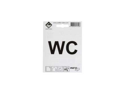 Zelfklevend pictogram WC 10x10 cm