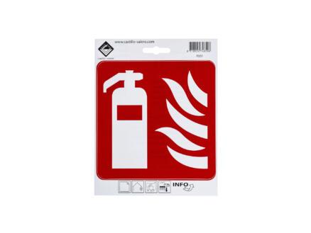 Zelfklevend pictogram brandblusser 15x15 cm