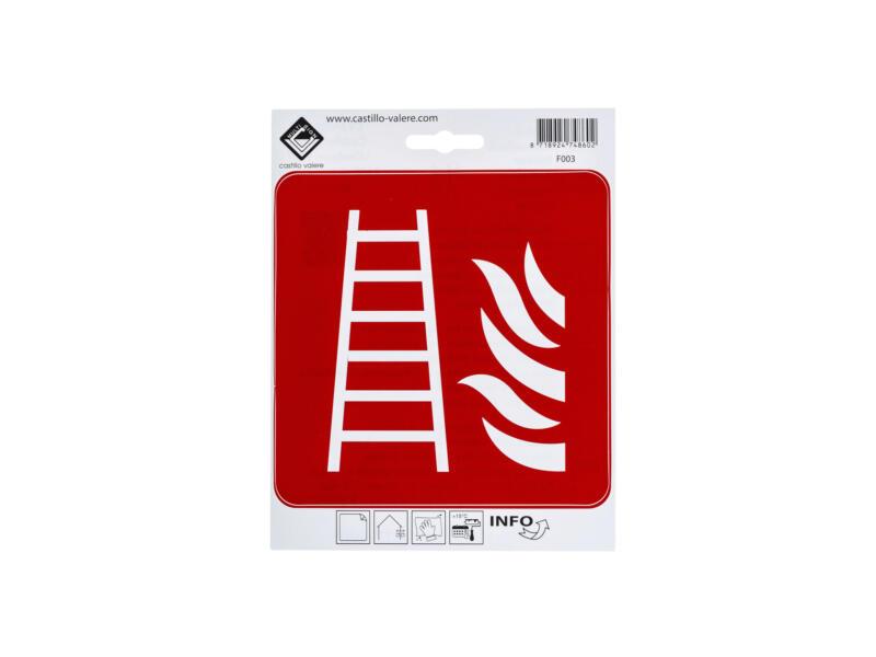 Zelfklevend pictogram brandladder 15x15 cm