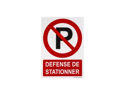 Zelfklevend pictogram défense de stationner 23x33 cm