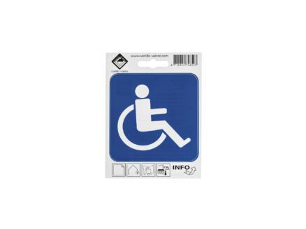 Zelfklevend pictogram toegang rolstoelen 10x10 cm