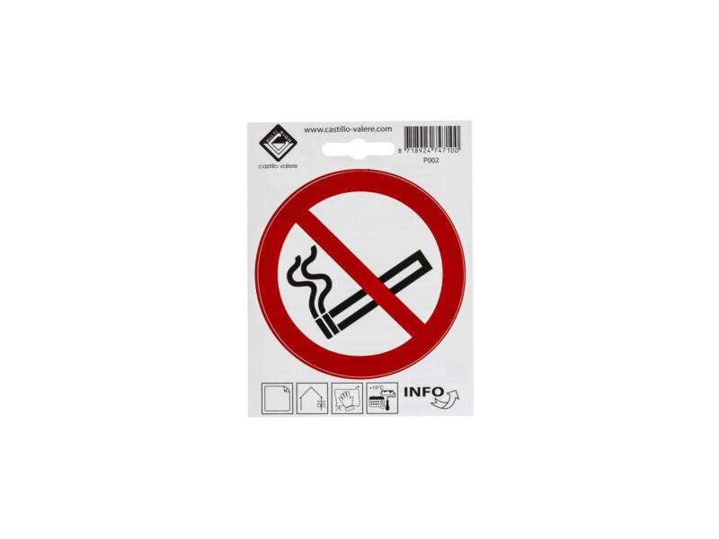 Zelfklevend pictogram verboden te roken 10cm