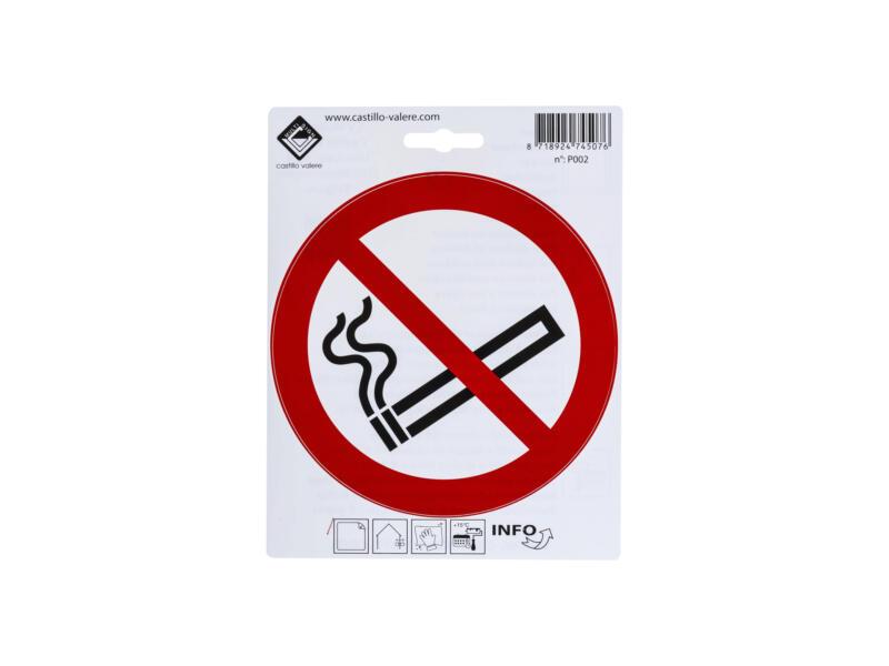 Zelfklevend pictogram verboden te roken 15cm