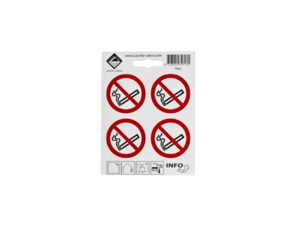Zelfklevend pictogram verboden te roken 4,7x4,7 cm 4 stuks