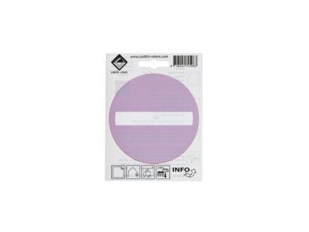 Zelfklevend pictogram verboden toegang 10cm achter glas