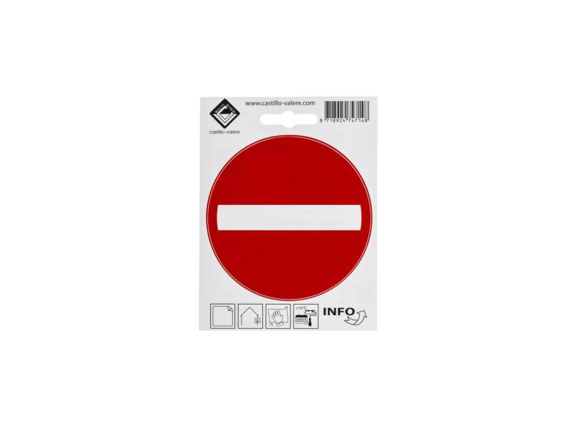 Zelfklevend pictogram verboden toegang 10cm