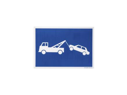 Zelfklevend pictogram wegsleepregeling 23x33 cm
