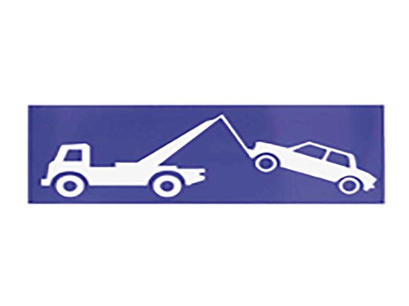 Carpoint Zelfklevend pictogram wegsleepregeling 34x14 cm