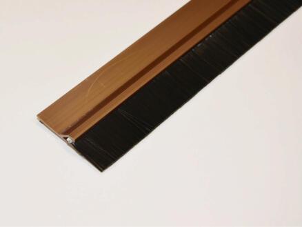 Confortex Zelfklevende deurstrip met borstel 1m 6,5cm bruin