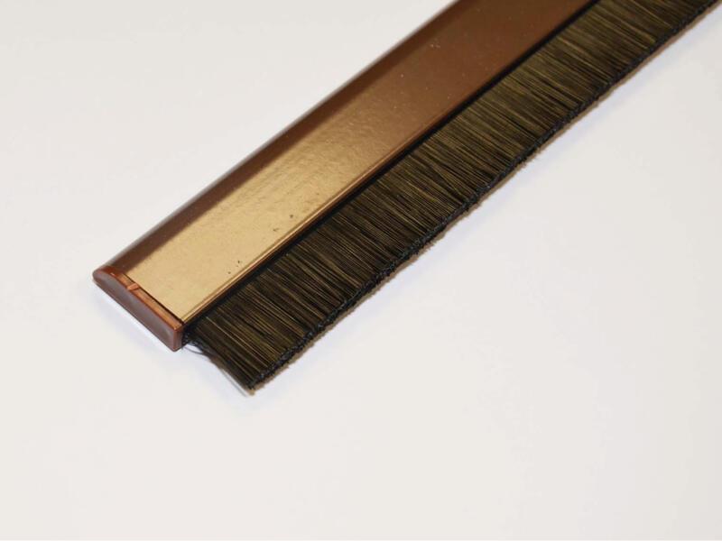 Confortex Zelfklevende deurstrip met verstelbare borstel 1m 6,5cm bruin