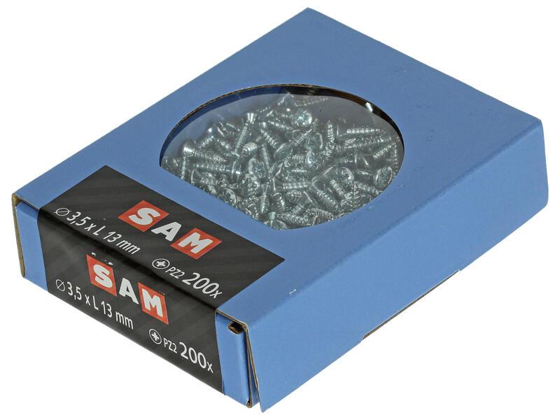 Sam Zelftappende schroeven PZ2 13x3,5 mm verzinkt 200 stuks