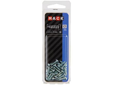 Mack Zelftappende schroeven PZ2 13x3,5 mm verzinkt 30 stuks