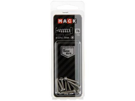 Mack Zelftappende schroeven PZ2 19x3,9 mm inox 10 stuks