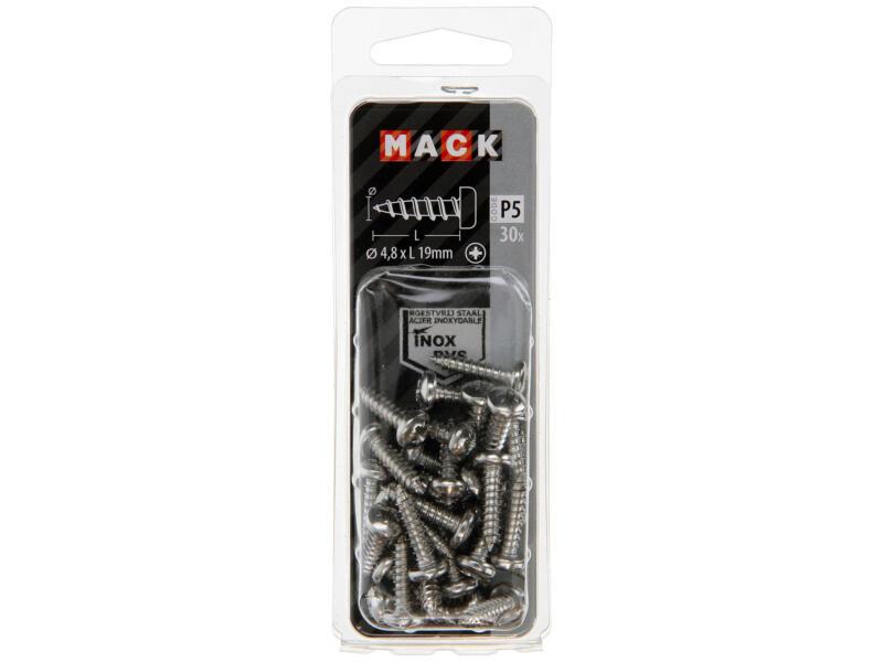 Mack Zelftappende schroeven PZ2 19x4,8 mm inox 30 stuks
