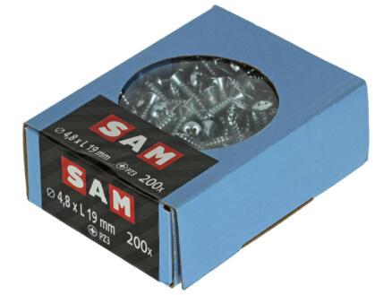Sam Zelftappende schroeven PZ2 19x4,8 mm verzinkt 200 stuks
