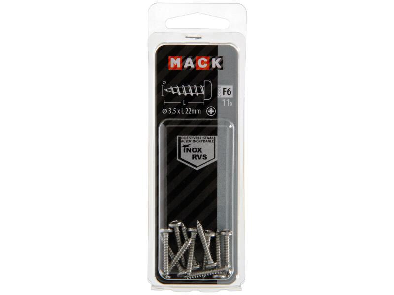 Mack Zelftappende schroeven PZ2 22x3,5 mm inox 11 stuks