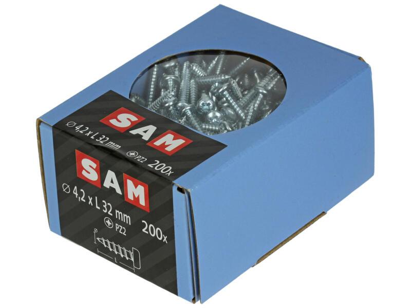 Sam Zelftappende schroeven PZ2 32x4,2 mm verzinkt 200 stuks