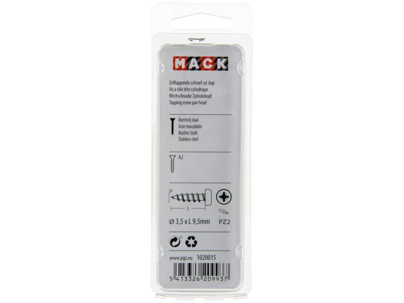 Mack Zelftappende schroeven PZ2 9,5x3,5 mm inox 70 stuks
