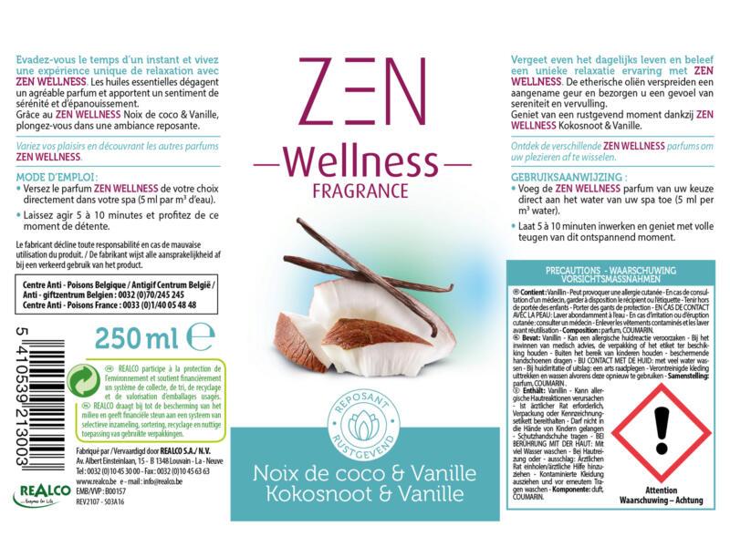 Zen Wellness parfum pour spa 250ml noix de coco & vanille