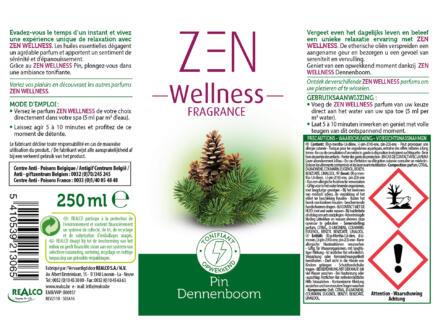 Zen Wellness parfum voor spa 250ml dennenboom