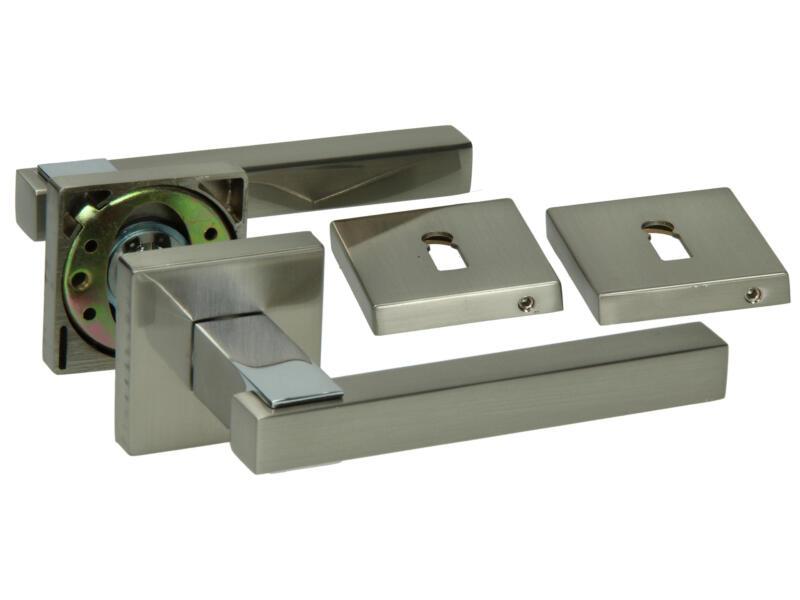 Yale Zeno BB deurklinkset op rozet 52mm mat vernikkeld