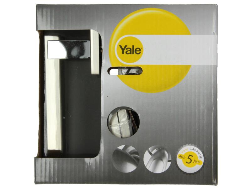 Yale Zeno BB poignée de porte avec rosaces 52mm nickelé set complet mat