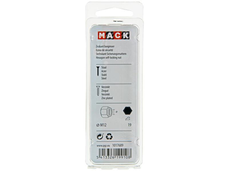 Mack Zeskantborgmoer M12 verzinkt 4 stuks