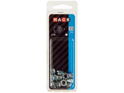 Mack Zeskantborgmoer M6 verzinkt 14 stuks
