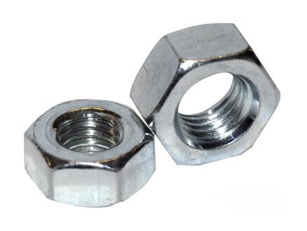 Pgb-fasteners Zeskantmoer DIN934 M6 verzinkt 200 stuks