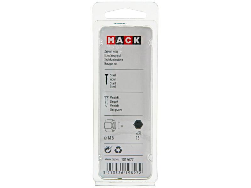 Mack Zeskantmoer M8 verzinkt 20 stuks