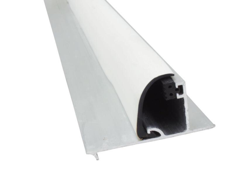 Scala Zijkantprofiel met witte rubber 250cm 16mm aluminium