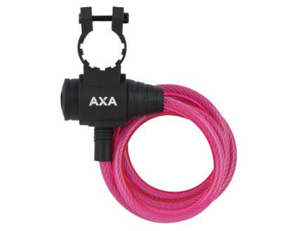 Axa Zipp câble antivol à clé 120cm rose