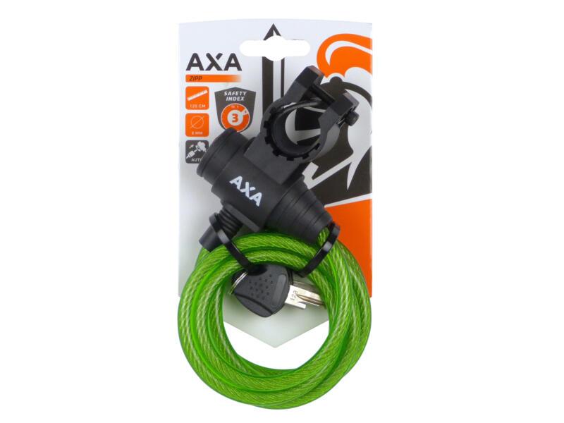 Axa Zipp kabelslot 120cm groen