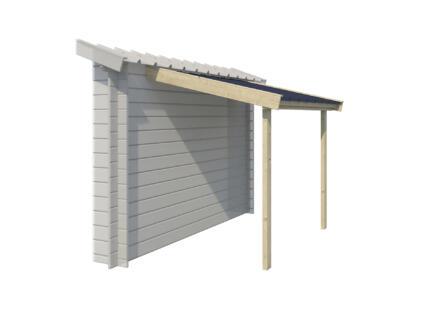 Gardenas abri bûches avec toit en acier 140x194 cm