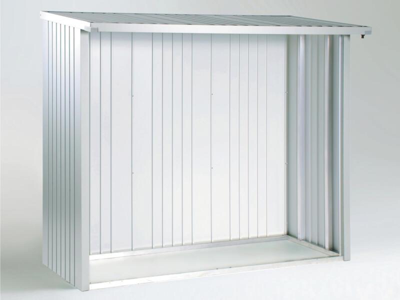 Biohort achterwand voor WoodStock 150 zilver metallic
