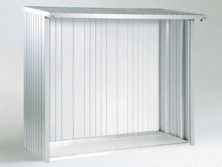 Biohort achterwand voor WoodStock 230 zilver metallic