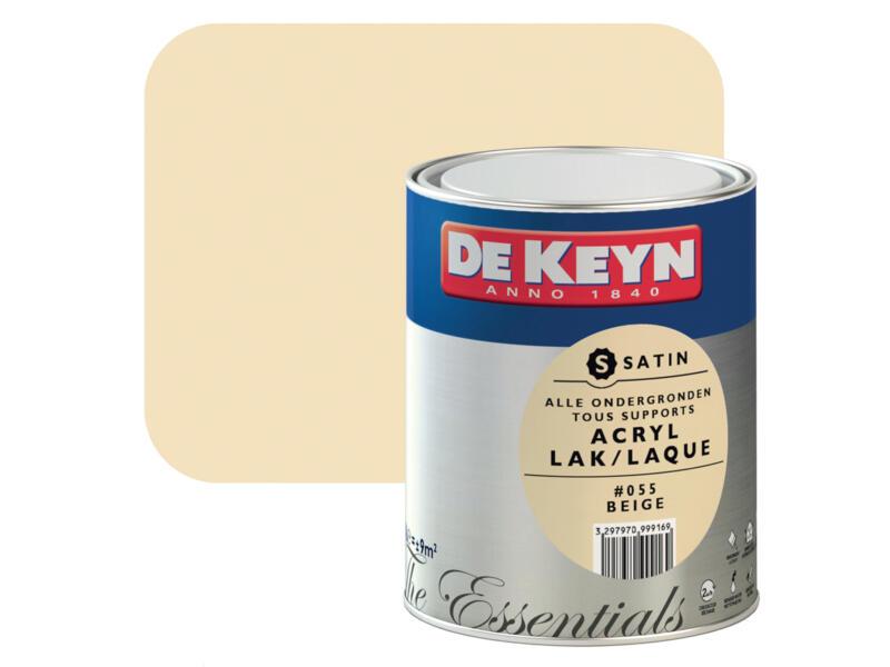 De Keyn acryl lak zijdeglans 0,75l beige #055