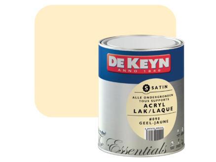 De Keyn acryl lak zijdeglans 0,75l geel #098