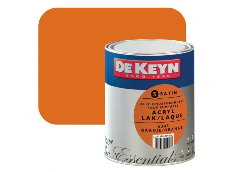 acryl lak zijdeglans 0,75l oranje #345
