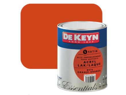 De Keyn acryl lak zijdeglans 0,75l oranje #476