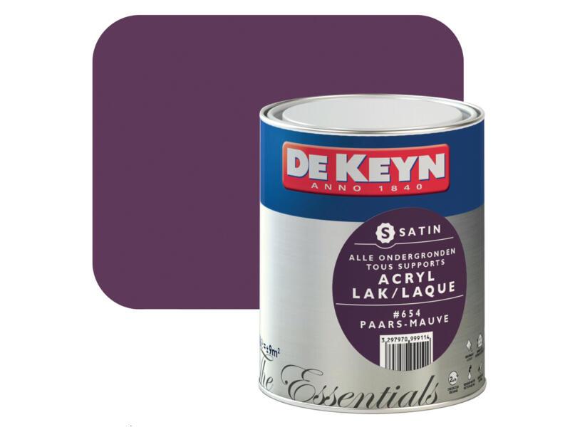 De Keyn acryl lak zijdeglans 0,75l paars #654