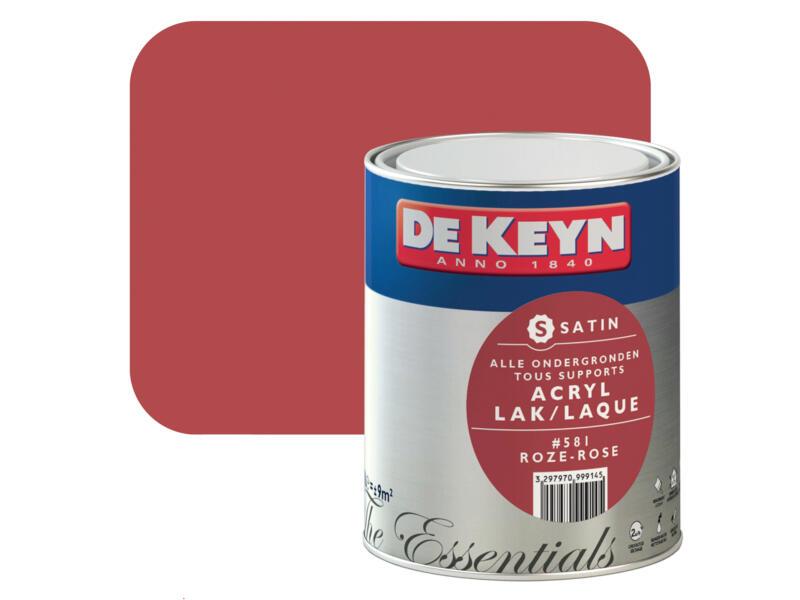 De Keyn acryl lak zijdeglans 0,75l roze #581