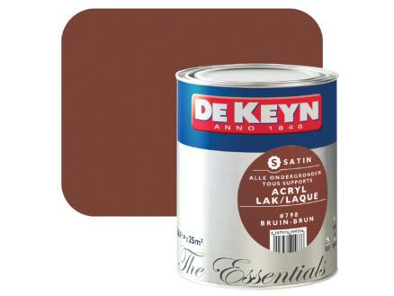 acryl lak zijdeglans 2,5l bruin #798
