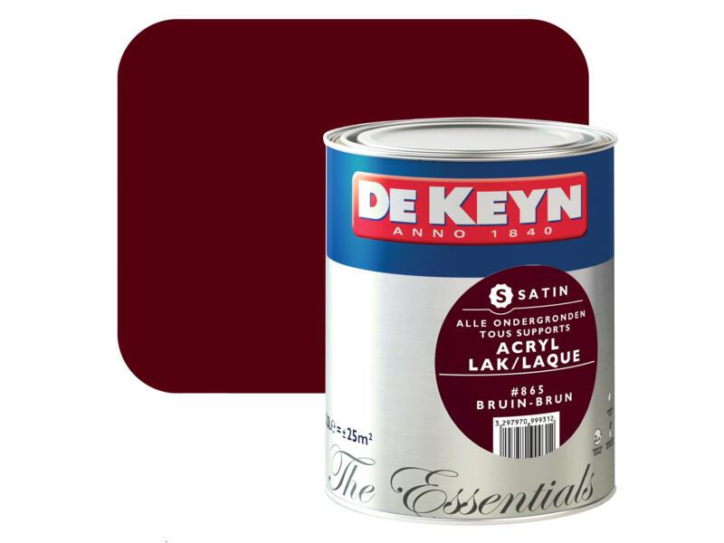 acryl lak zijdeglans 2,5l bruin #865