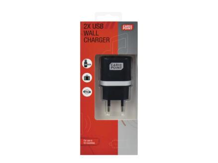 Carpoint adaptateur secteur double USB