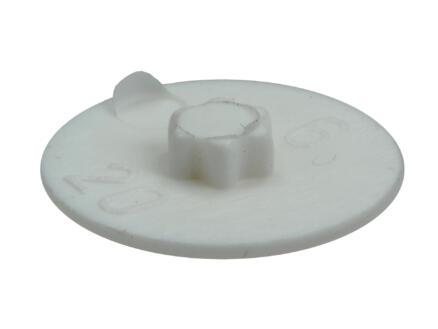 Rotadrill afdekkapje voor TX20-schroeven wit 40 stuks