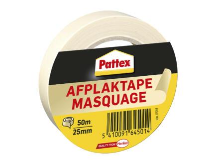 Pattex afplaktape 50m x 25mm beige