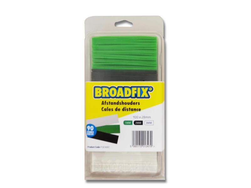 Broadfix afstandhouders 100x28 mm 1-3 mm plat 90 stuks