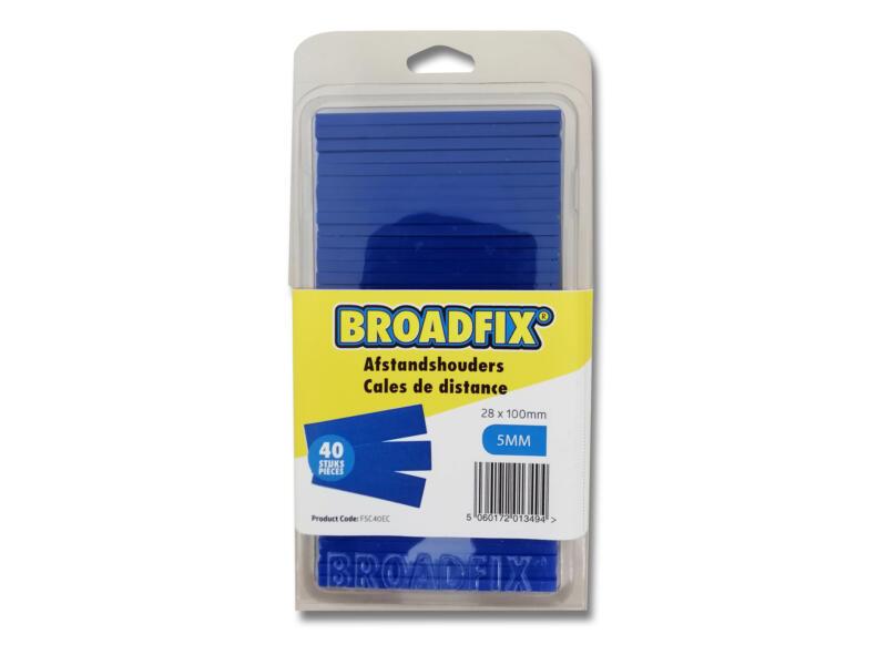Broadfix afstandhouders 100x28 mm 5mm plat 40 stuks