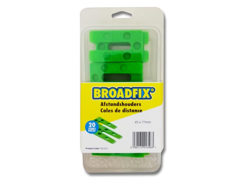 Broadfix afstandhouders 45x77 mm 1-8 mm schuin 20 stuks